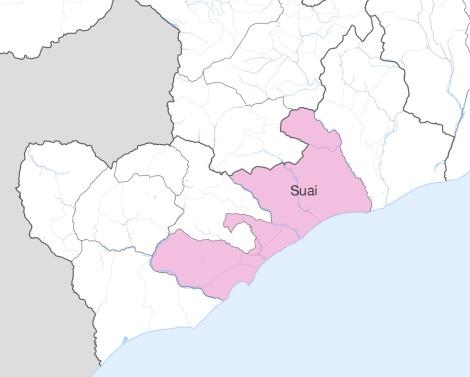 Mapa do sub-distrito Suai